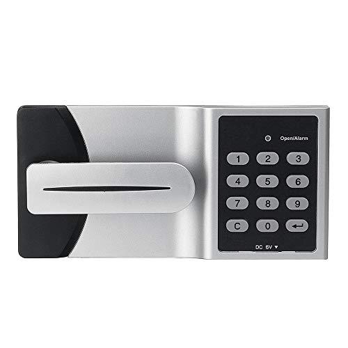 QuRRong Cerradura de Puerta Inteligente Electrónico Contraseña Código de Bloqueo Inteligente Gabinete de Bloqueo de la Puerta Contraseña Teclado numérico Digital Lock para Interior o Exterior