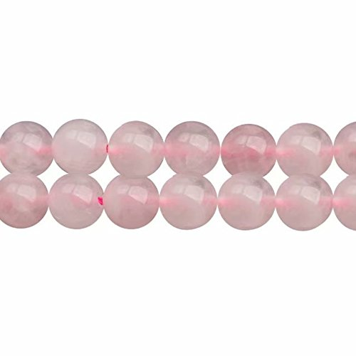 Naturale Quarzo Rosa Rotondo Sciolto 6mm Perline in Pietra per fare Gioielli Circa 38cm un Filo 60 Perline