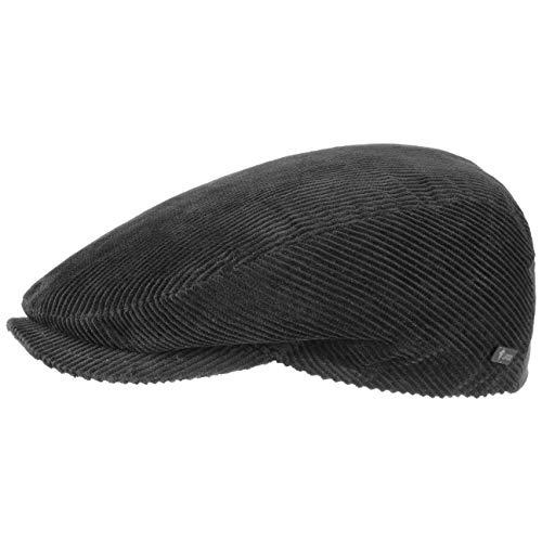 Lipodo Gorra Gatsby Cordial Algodón - Negro - Talla 53 cm - Gorra de Pana de Hombre con Forro Acolchado para Invierno - Gorra Deportiva