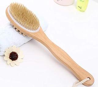 خشب طويل طبيعي خشبي الجسم فرشاة مدلك حمام دش الظهر سبا تنظيف على الوجهين تدليك الحمام فرشاة الحمام