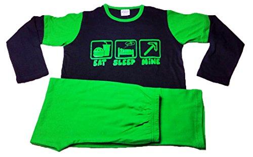 Nubee Fashion Secrets Schlafanzug / Schlafanzug, mit langen Ärmeln, Grün Gr. 7-8 Jahre, grün