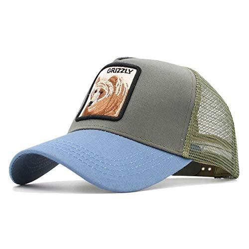 8 Tipos de Gorras de béisbol de Animales Bordadas para Hombres, Gorras Snapback de Malla Transpirable, Sombrero de Sol Unisex para Mujeres, Gorra de Hip Hop Casquette-Fox GY