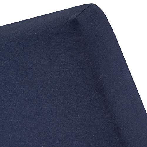 Cinderella - Sábana bajera ajustable (70 x 200 cm), color azul oscuro