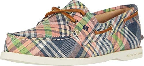 Sperry Women's A/O 2-Eye Washed Plaid Boat Shoe, Plaid, 9 M US -  STS85178-996-9 M US