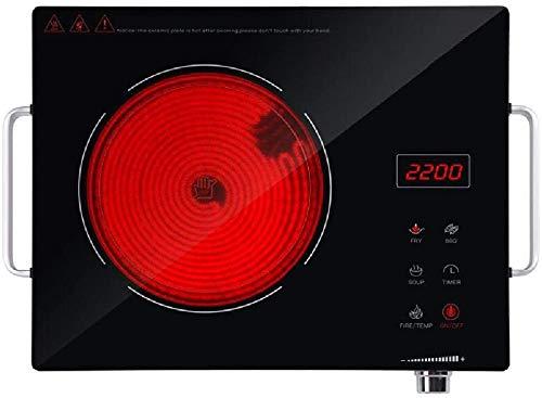 Placa de inducción, horno eléctrico del hogar inteligente portátil eléctrica, control táctil...