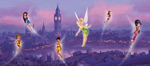 1art1 Disney Fairies - Tinkerbell, Emily, Vidia Und Feen In London Fototapete Poster-Tapete 202 x 90 cm