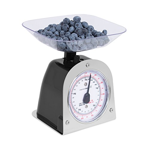 Internet's Best Mechanical Kitchen Food Weight Scale with Bowl - Accurate Measurements - Weighs Up 11 Lbs - 1KG - 5KG
