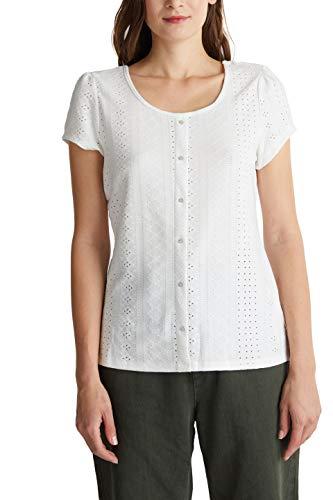 edc by Esprit 040cc1k340 Camiseta, 110/Off White, L para Mujer