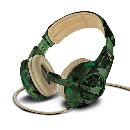 Trust Gaming Headset GXT 310C mit Mikrofon für PS4, PS5, PC, Nintendo Switch, Xbox Series X, Xbox One - Radius Kabelgebundene Gaming-Kopfhörer mit Kopfbügel - Grün Camouflage