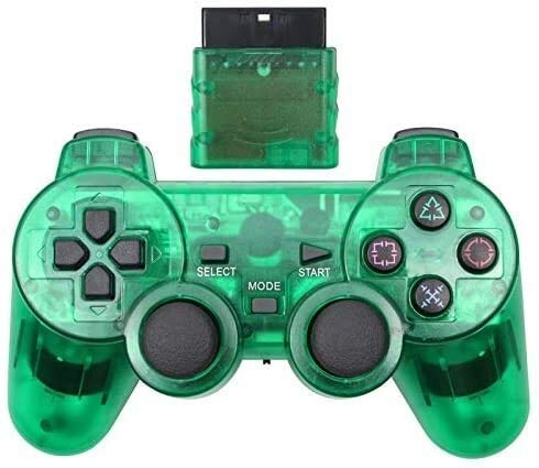 Dujie Mango Gamepad Moblie Juego Mando inalámbrico de PS3 Gamepad for Playstation3 Seis Ejes inalámbrico PS3 Palanca de Mando QPLNTCQ (Color: Azul Claro, Tamaño: 1) ( Color : Green , Size : 1 )