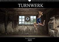 Turnwerk (Wandkalender 2022 DIN A3 quer): Turnen in einer alten Fabrik (Monatskalender, 14 Seiten )
