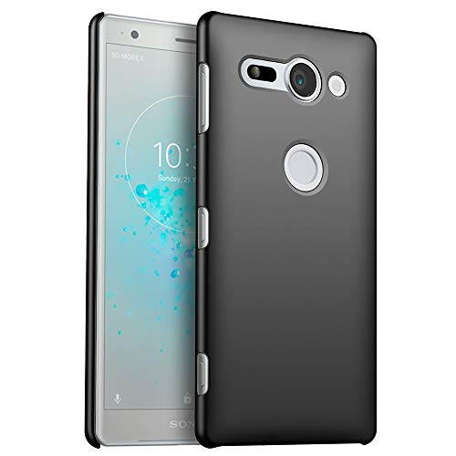 for-sony-xperia-xz2-compact-slim-case-zuercong-smooth-series-ultra-thin-anti-fingerprints-anti-scratch-anti-drop-shockproof-hard-plastic-protective-back-phone-cases-coversmooth-black