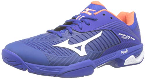 Mizuno Wave Exceed Tour 3 AC, Zapatillas de Tenis para Hombre, Azul (Reflex Blue/White/Nasturtium 27), 41 EU