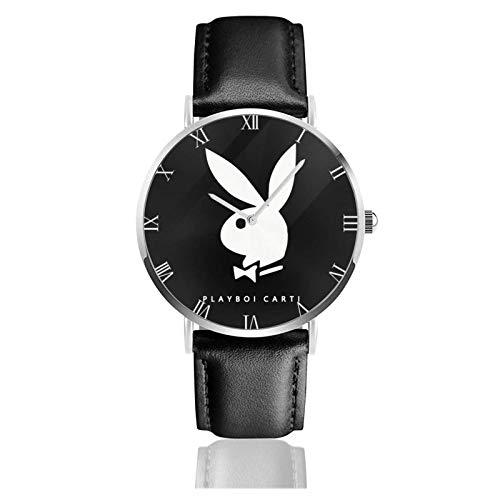 Relojes Anolog Negocio Cuarzo Cuero de PU Amable Relojes de Pulsera Wrist Watches Playboi Carti