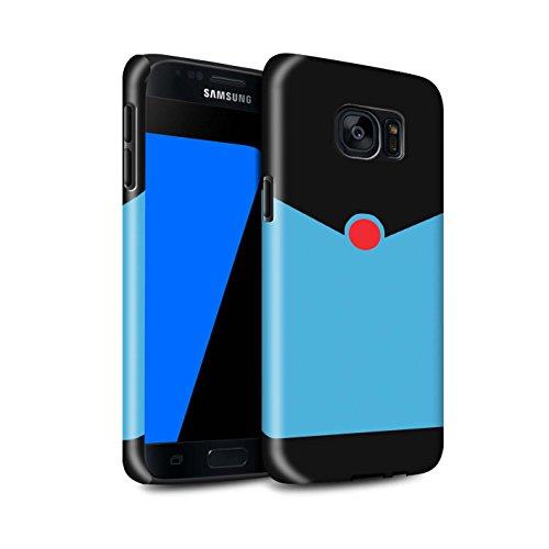 Stuff4® glanzende harde schokbestendige hoes/case voor Samsung Galaxy S7 / G930 / retro blauw pak patroon/cartoon superheld kunst collectie