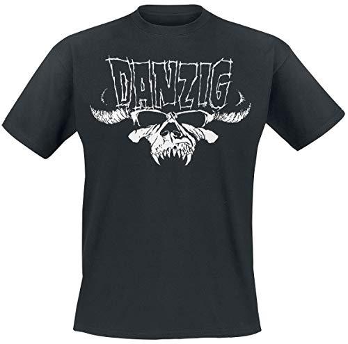 Danzig Classic Logo Männer T-Shirt schwarz S, 100% Baumwolle, Band-Merch, Bands