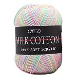 DIY lanas para tejer hilo para tejer a crochet Lana Suave Crochet Hilo de tejer 3 hebras de líneas...