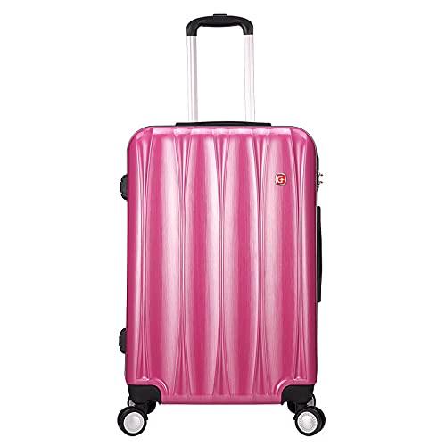 Universal Wheel Boarding case, Maletín de negocios, Maleta con ruedas, Maleta de equipaje Caja de contraseña 20/24/28 Color: Azul oscuro, Rojo Rosa, Gris Plata, rosa roja (Rojo) - GYTF02126548