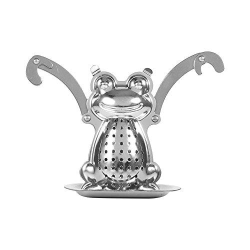 Difusor de acero inoxidable con forma de hoja de té