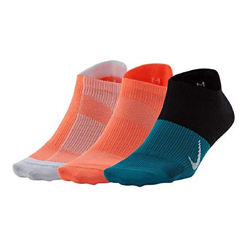 Nike Calcetines de entrenamiento ligeros para mujer, 3 unidades - - M
