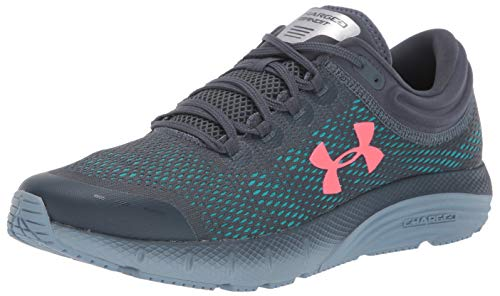Under Armour UA Charged Bandit 5, Zapatillas para Correr, Calzado Deportivo para Hombre, Gris (Wire/Ash Gray/Beta Red (403) 403), 49.5 EU