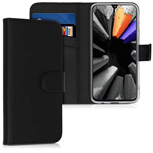 Preisvergleich Produktbild kwmobile Hülle kompatibel mit Samsung Galaxy A40 - Kunstleder Wallet Case mit Kartenfächern Stand in Schwarz