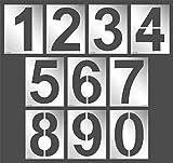 "Aleks Melnyk #64、ラージナンバー/ 10個セット/メタルテンプレート/ステンレスステンシル - フォントの高さ12"""