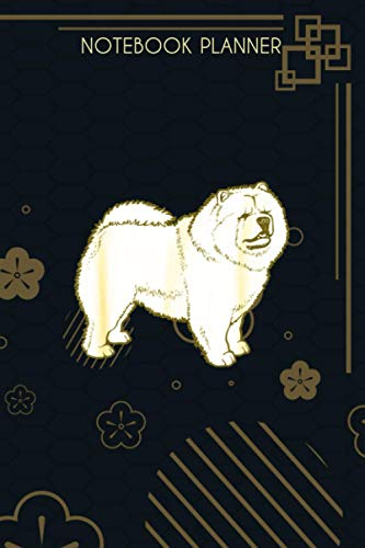 Notebook Planner Chow Chow Dog Breed Gift For Animal Dogs Fan Lover:...