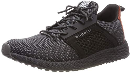 bugatti Herren, Slip On Sneaker, 341623626900, Schwarz (Schwarz), 45 EU