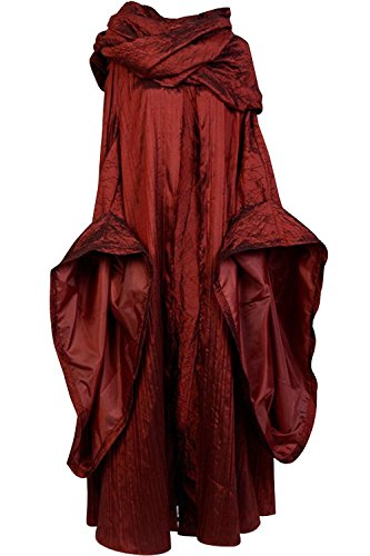 SIDNOR GoT Game of Thrones The Red Woman Melisandre Cosplay Costume Outfit Suit Dress (XX-Large)