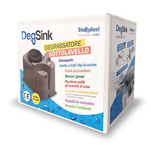 Degrasador bajo fregadero, DEGSINK para cocina, mantiene limpios los desagües de casa, fácil de instalar y colocar solo sobre el módulo bajo el fregadero, 36 x 23 x 30 cm, 18 litros