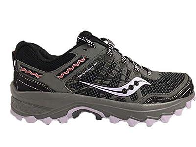 Saucony Women's Grid Excursion TR12 Sneaker, Black/Purple, 8.5 M US