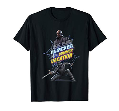 Marvel Spider-Man Far From Home Nick Fury Stealth Suit Logo T-Shirt