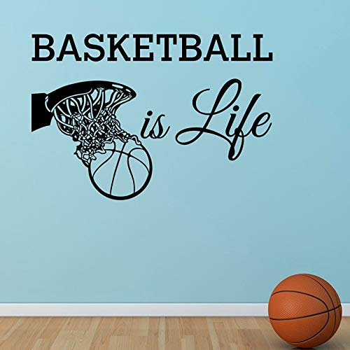 Zhuzhuwen, koperen driehoekige muurstickers, basketbal Ist Das Leben S Basketball In the mand, vinyl familie en vakantie, decoraties