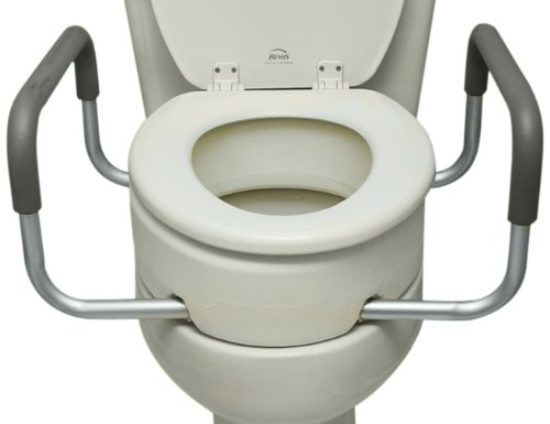 Essential Medical Supply Elevated Toilet Seat with Arms,...