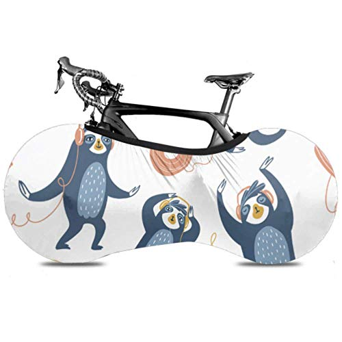 Cubierta de la rueda de la bicicleta Perezosos frescos Fiesta Escuchando música...
