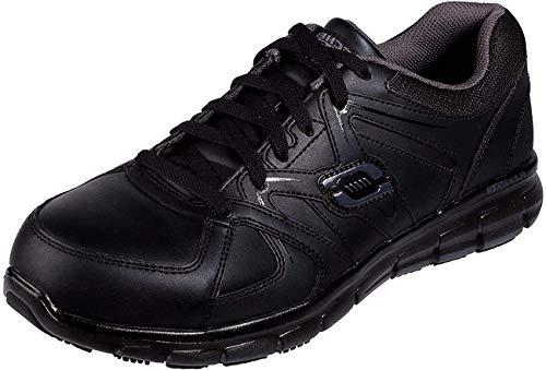 Skechers Men's Synergy Ekron Industrial Shoe, Black Grey, 8