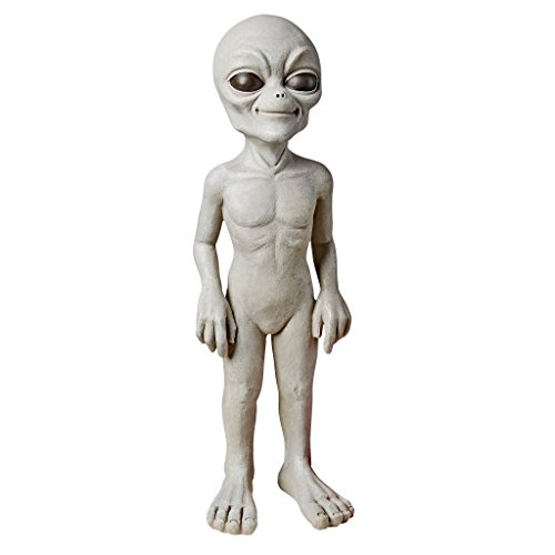 Design Toscano LY815032 The Out-of-this-World Alien Extra Terrestrial Statue: Small,Gray Stone...