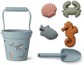 Kaikso-In Jouets de plage en forme de seau en silicone souple - Pour jeux de plage - Pour enfants et tout-petits
