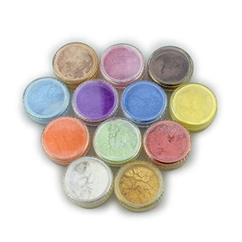 Keepbest 12 Kleur Mica Pigment Poeder voor Zeep Cosmetica Hars Kleurstof Kleurstof Nagel Kunst
