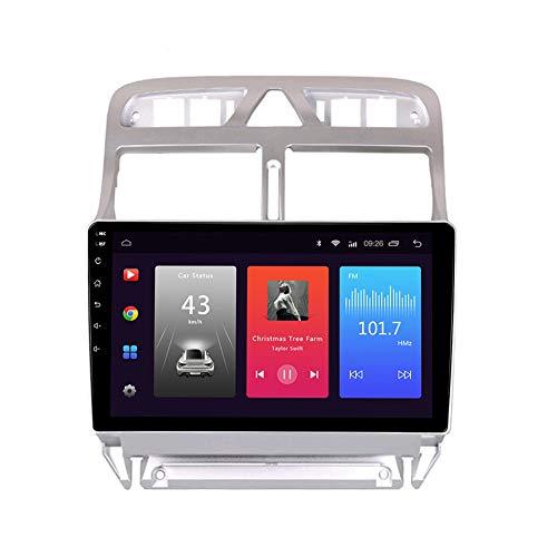 LINNJ Android Car Stereo Sat Nav para Peugeot 307 2002-2013 Unidad Principal Sistema de navegación GPS SWC 4G WiFi BT USB Mirror Link Carplay Incorporado