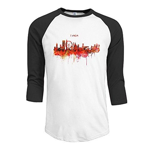 London Skyline - Camiseta de Manga 3/4 para Hombre, diseño de Acuarela