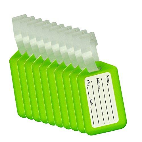 BlueCosto 10x Verde Etiquetas Equipaje Etiqueta Dirección