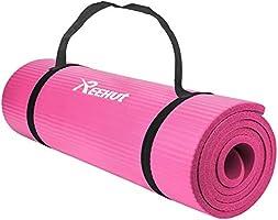 REEHUT Colchoneta de Yoga de NBR de Alta Densidad y Extra Gruesa de 12mm Diseñada para Pilates, Fitness y Entrenamiento...