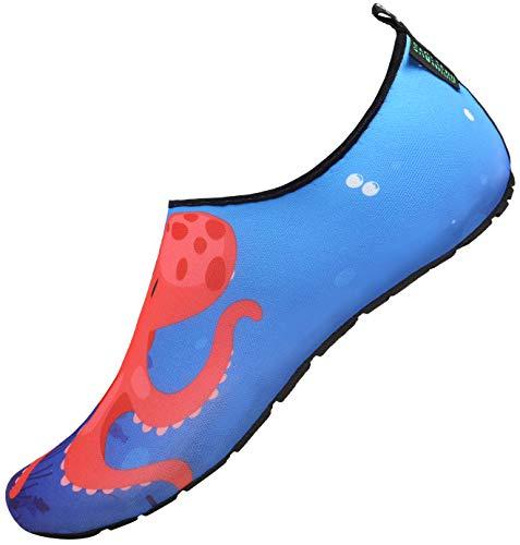 SAGUARO Niños Escarpines Zapatos de Agua Calcetines de Natación Aire Descalzos de Aguamarina de Secado rápido Piscina de Playa para Buceo Surf Mar Yoga,Dodger Azul 32/33 EU