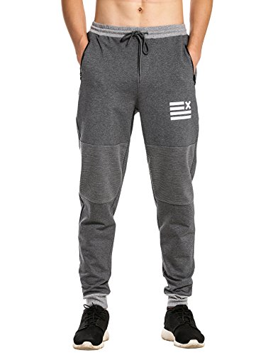 COOFANDY Men's Casual Jogger Pants Fashion Running Sweatpants Gray