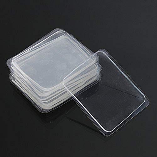HonFitat 10pcs transparentes Silikon-Gel-Pad Anti-Rutsch-Multifunktion rutschfeste Wandaufkleber freien Klebstoff