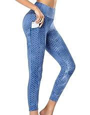 Vrouwen Hoge Taille Bubble Hip Yoga Broek TikTok Leggings Butt Lifting Anti Cellulite Tummy Control Yoga Panty