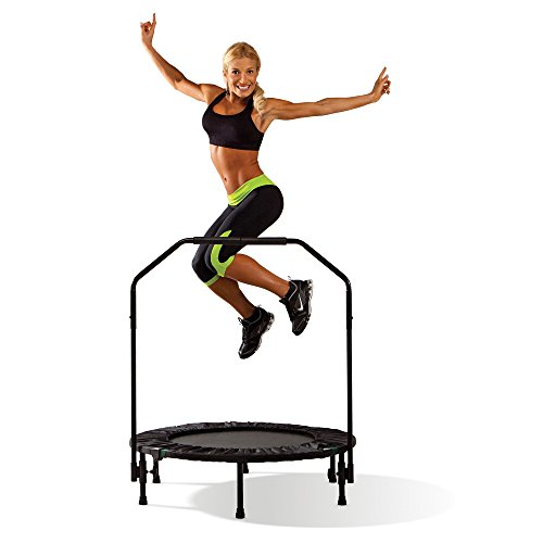 Marcy Foldable Trampoline Cardio Trainer with Handle ASG-40 - Black