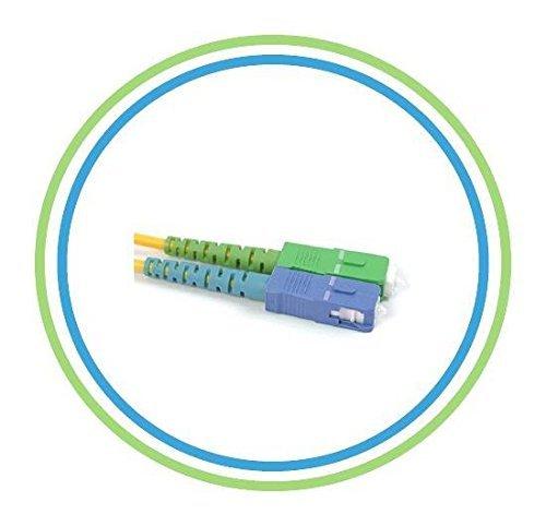 PacSatSales - Fiber Optic Patch Cable - Single Mode - SIMPLEX - OS1-9/125um (1M, SC/APC to SC)